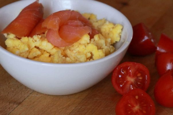 Scrambled eggs with smoked salmon, really
