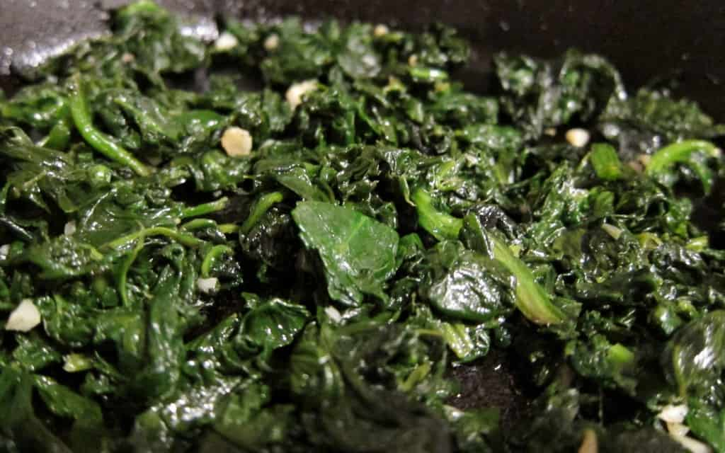 Sauteed spinach with garlic