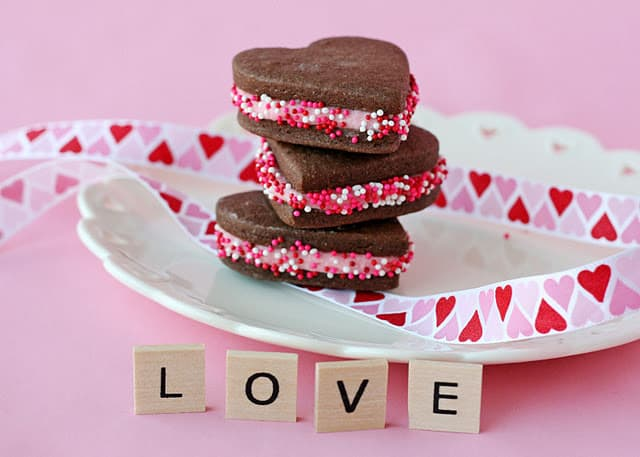 Chocolate Valentine's Cookies