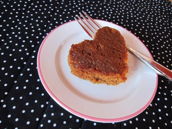 heart shaped ginger cake by david lebovitz
