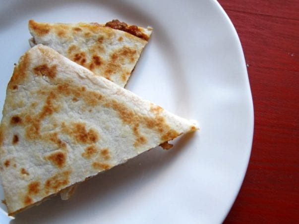 Beef & cheese quesadillas (with a secret good-for-you ingredient)