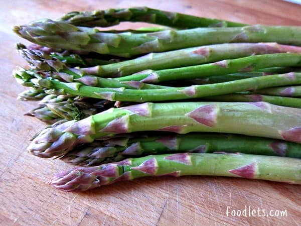 asparagus on counter