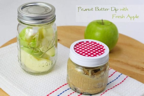 Peanut butter dip with fresh apples…to go!
