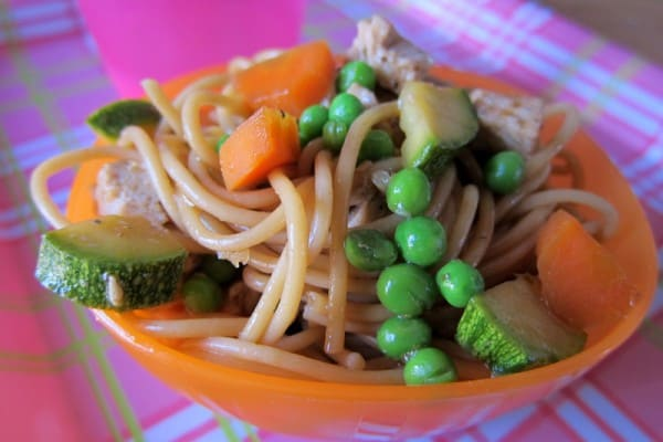 Load up stir fry in a bowl or plate