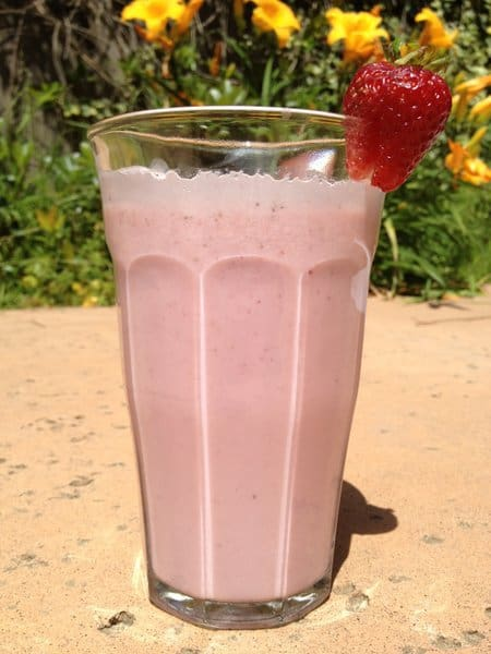 Fresh strawberry milk
