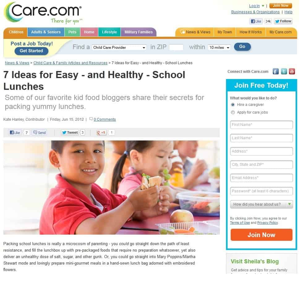 Foodlets on Care.com