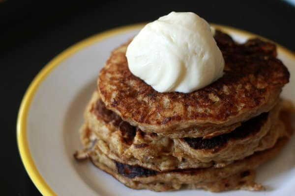 carrot cake pancakes close up