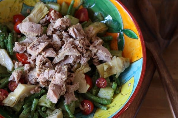 Tuna nicoise potato salad, Italian style