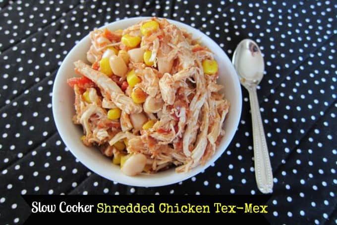 Slow Cooker Shredded Chicken Tex-Mex
