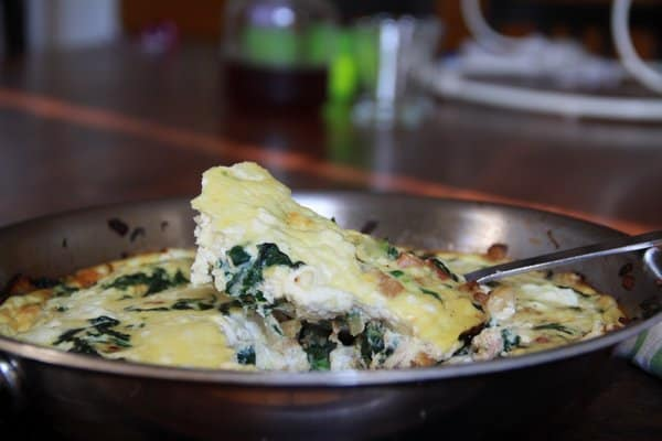 Frittata With Spinach Pancetta Ricotta A Barefoot Contessa Makeover Foodlets