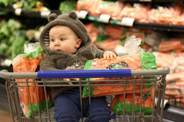 Where's the food? My first trip to an American grocery store as a mom