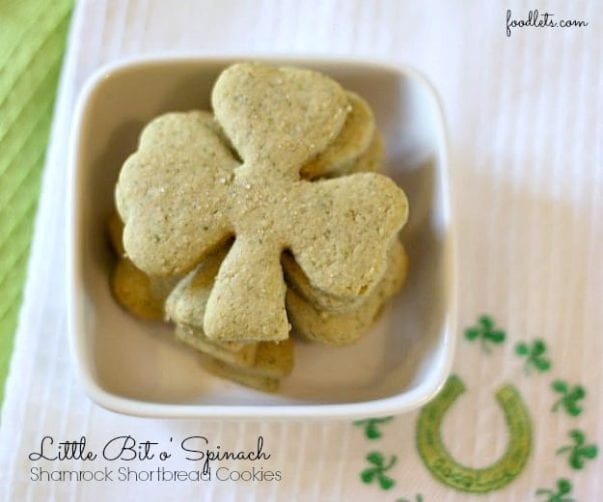 Little Bit o'Spinach Shortbread Cookies for St. Patrick's Day
