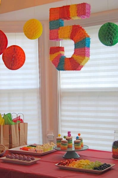 A rainbow spa birthday party for a 5 year old girl happy for 5th birthday decoration ideas