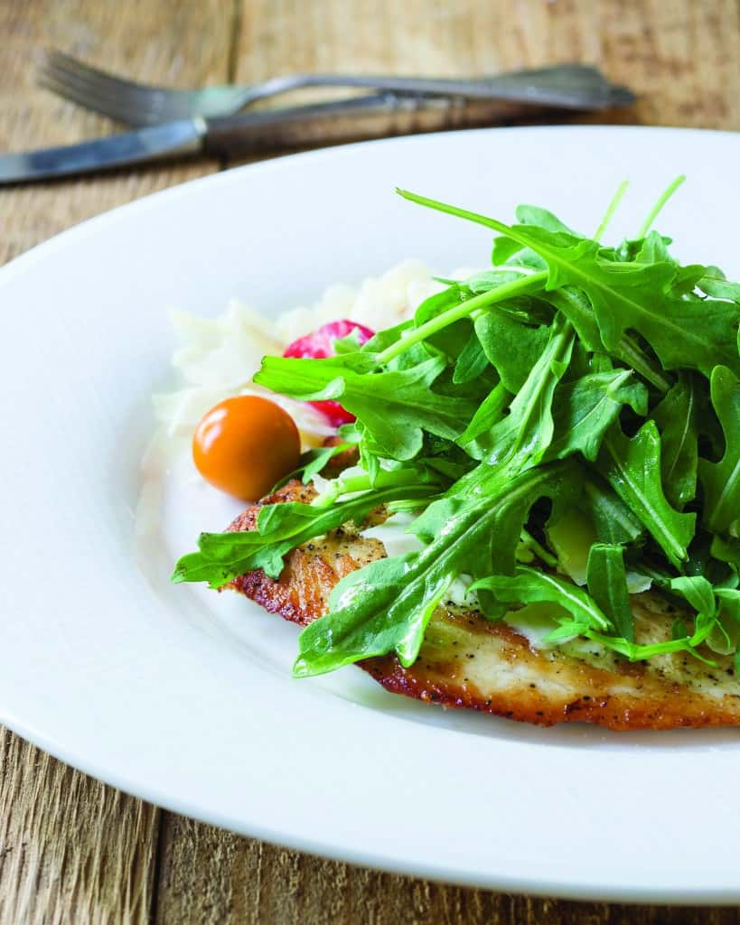 "pan-fried chicken Milanese, a family-friendly recipe from ""The Fresh 20"" by Melissa Lanz"