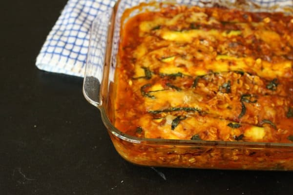 zucchini lasagna, a new favorite recipe from Florida