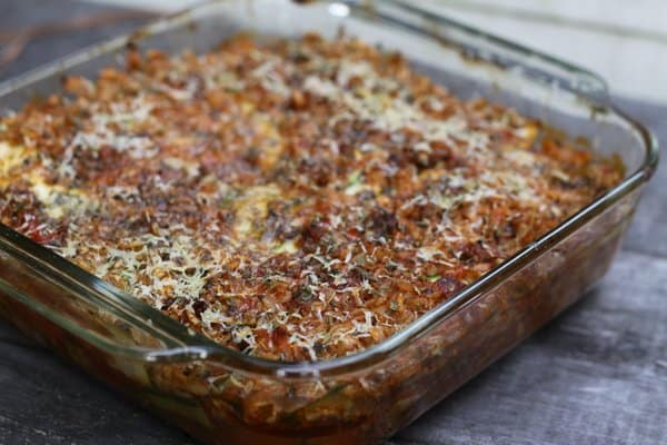 Our Most Popular Casserole Recipe Ever: Sausage, Rice, Zucchini & Cheese