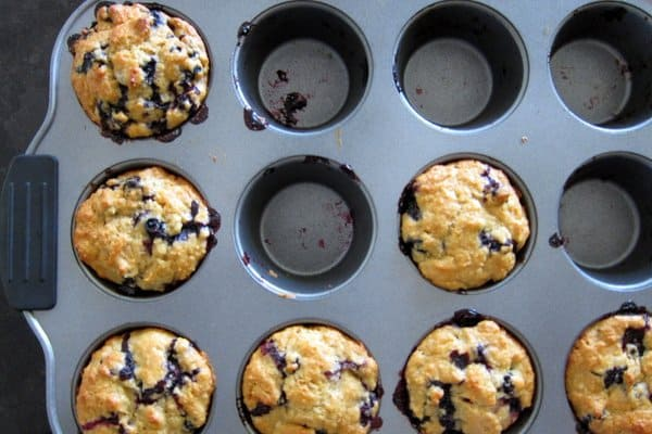 Honey-Sweetened Blueberry Muffins