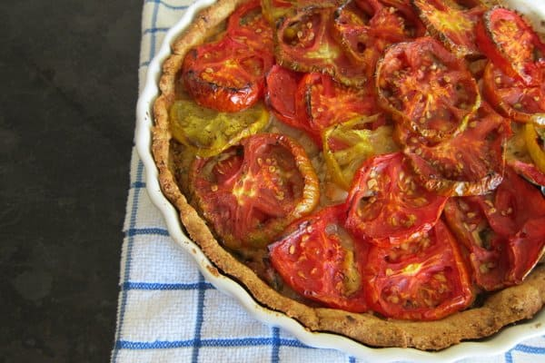 tomato & cheese tart