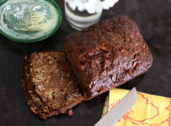 healthy apple spice quick bread