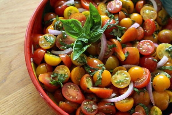 cheery cherry tomato & basil salad