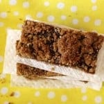 homemade whole wheat flax seed strawberry cereal bars from above, foodlets.com