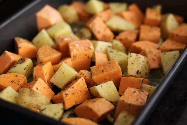 little things that work: add a sweet potato to your next pan of potatoes