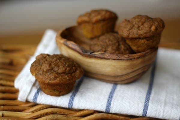 even healthier pumpkin spice mini muffins