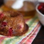 cranberry muffin with honey and berries