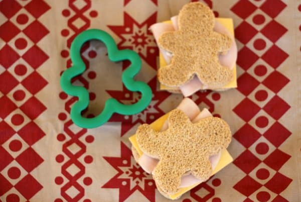 gingerbread shaped sandwiches