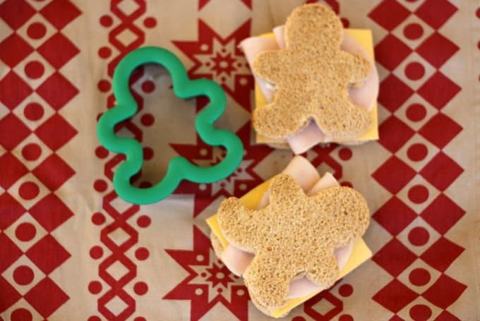 christmas sandwich shapes, foodlets