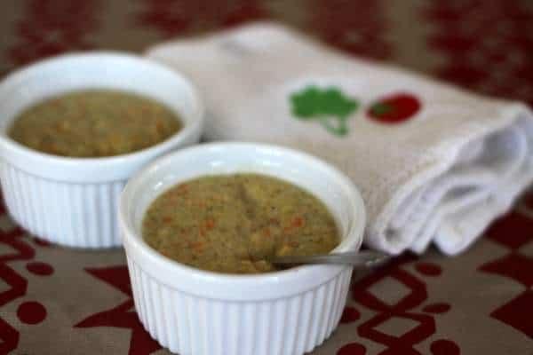 healthier broccoli & cheddar soup