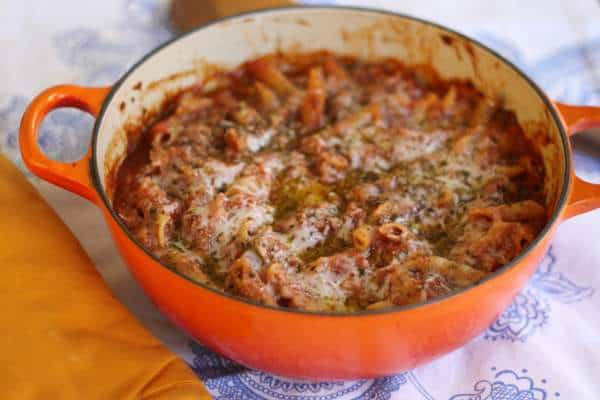 baked pasta with spaghetti squash, foodlets