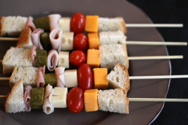 sandwiches on a stick, foodlets