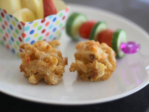 mac & cheese mini muffins, foodlets