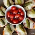 platter of mini reuben sandwiches, foodlets