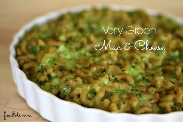 very green mac & cheese