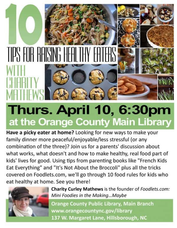 parents' workshop, 10 tips for raising healthy eaters, april 10, 2014