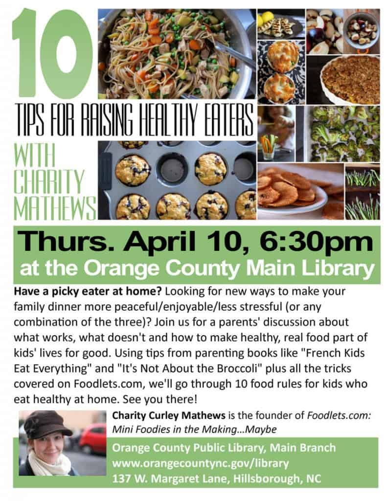 parents' workshop, 10 tips for raising healthy eaters, april 10, 2014