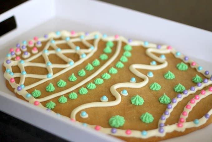 big sugar cookie easter egg, foodlets