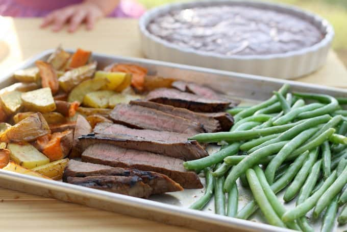 perfectly flavored london broil, foodlets