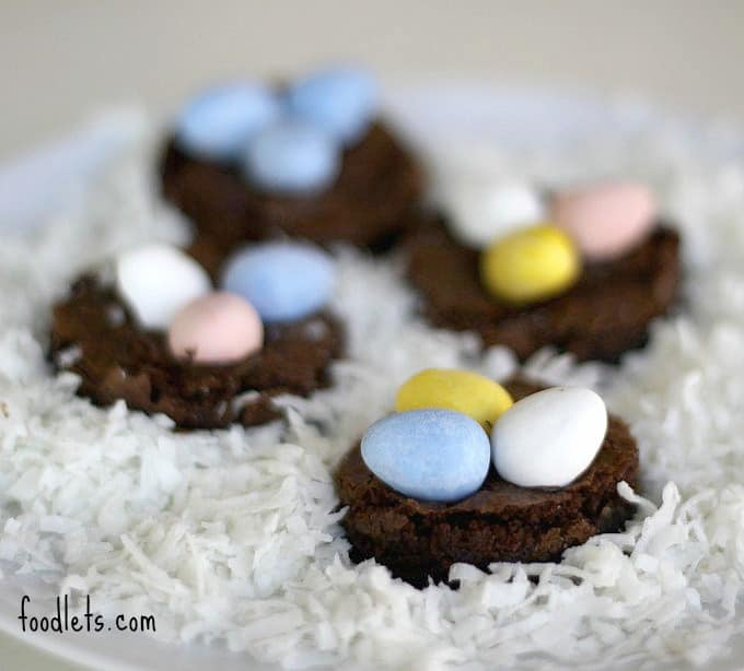 easy brownie bird nests, foodlets