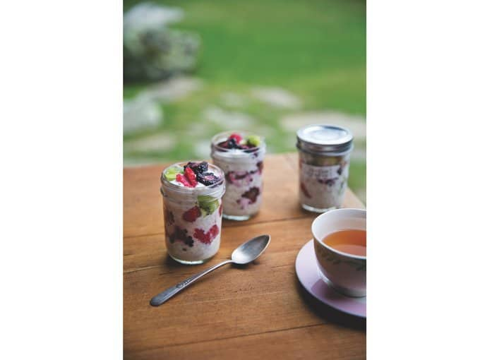 "fresh fruity summer porridge, a recipe excerpt from ""the family cooks"" by laurie david"