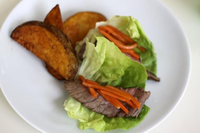 lettuce wraps with steak