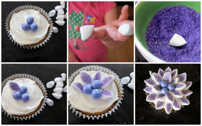 how to make mini marshmallow flowers