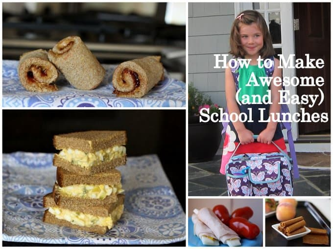 how to make awesome and easy school lunches