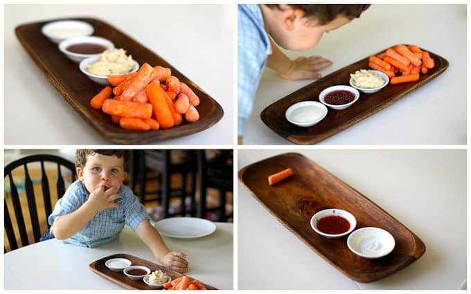 baby carrots with dip, foodlets