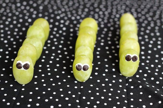 how to make green grape caterpillars
