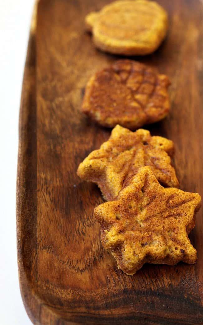 shredded sweet potato muffins on tray