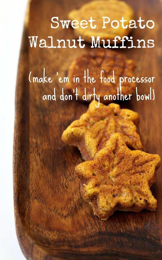 sweet potato walnut muffins foodlets