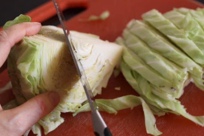 how to core a cabbage